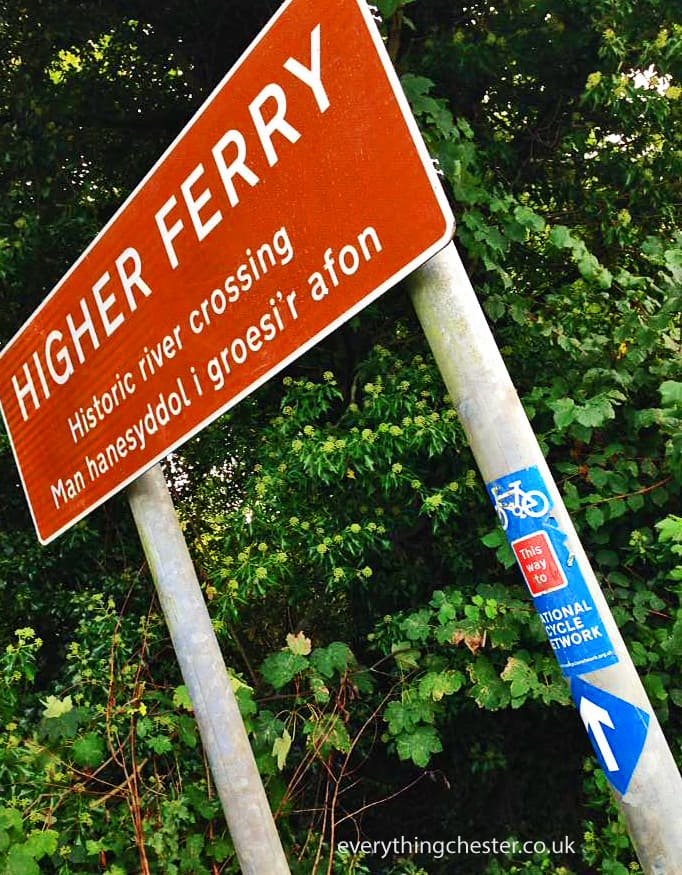 Higher Ferry Historic River Dee Crossing Signpost