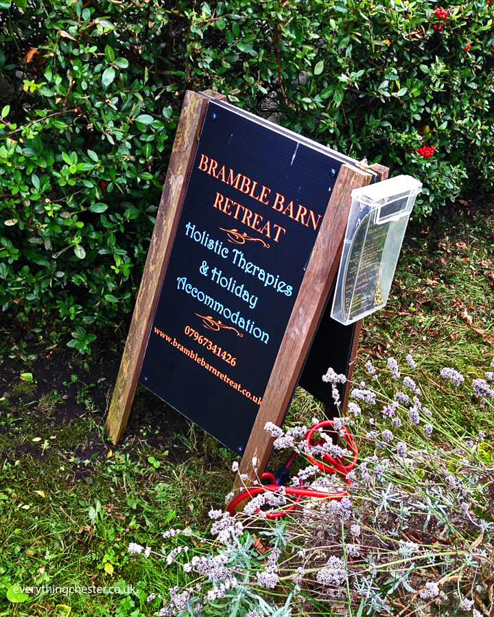 Bramble Barn Retreat Sign Chester