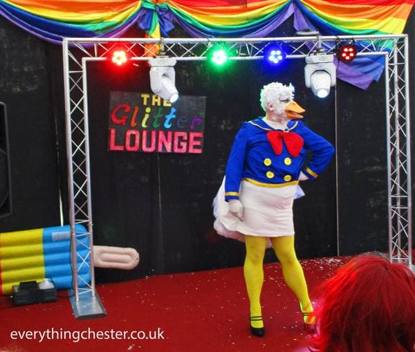 chester pride 2017 donald duck the glitter lounge